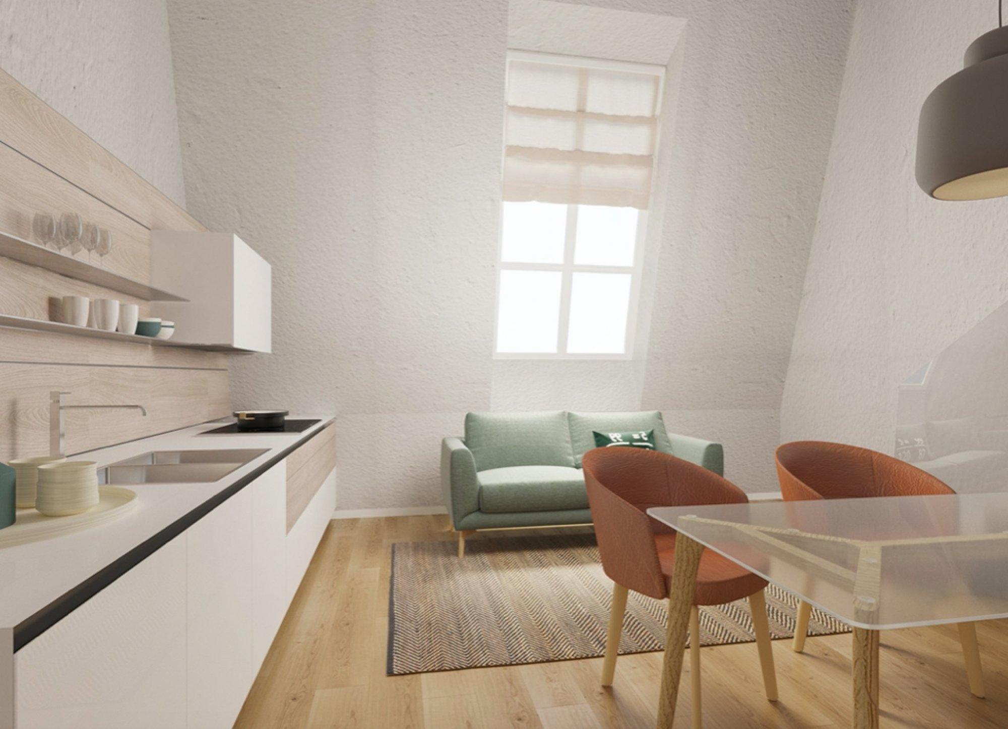 Půdní byt 2+kk, plocha 53 m², ulice Seifertova, Praha 3 - Žižkov | 2