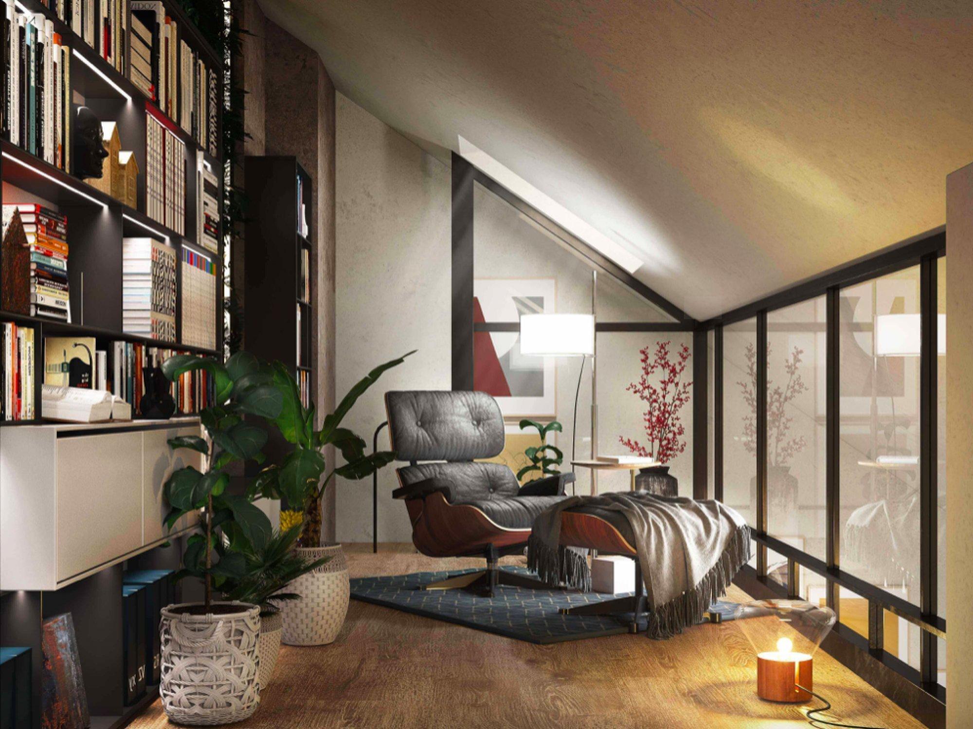 Vizualizace galerie - Půdní byt 3+kk, plocha 75 m², ulice Legerova, Praha 2 - Nové Město | 2