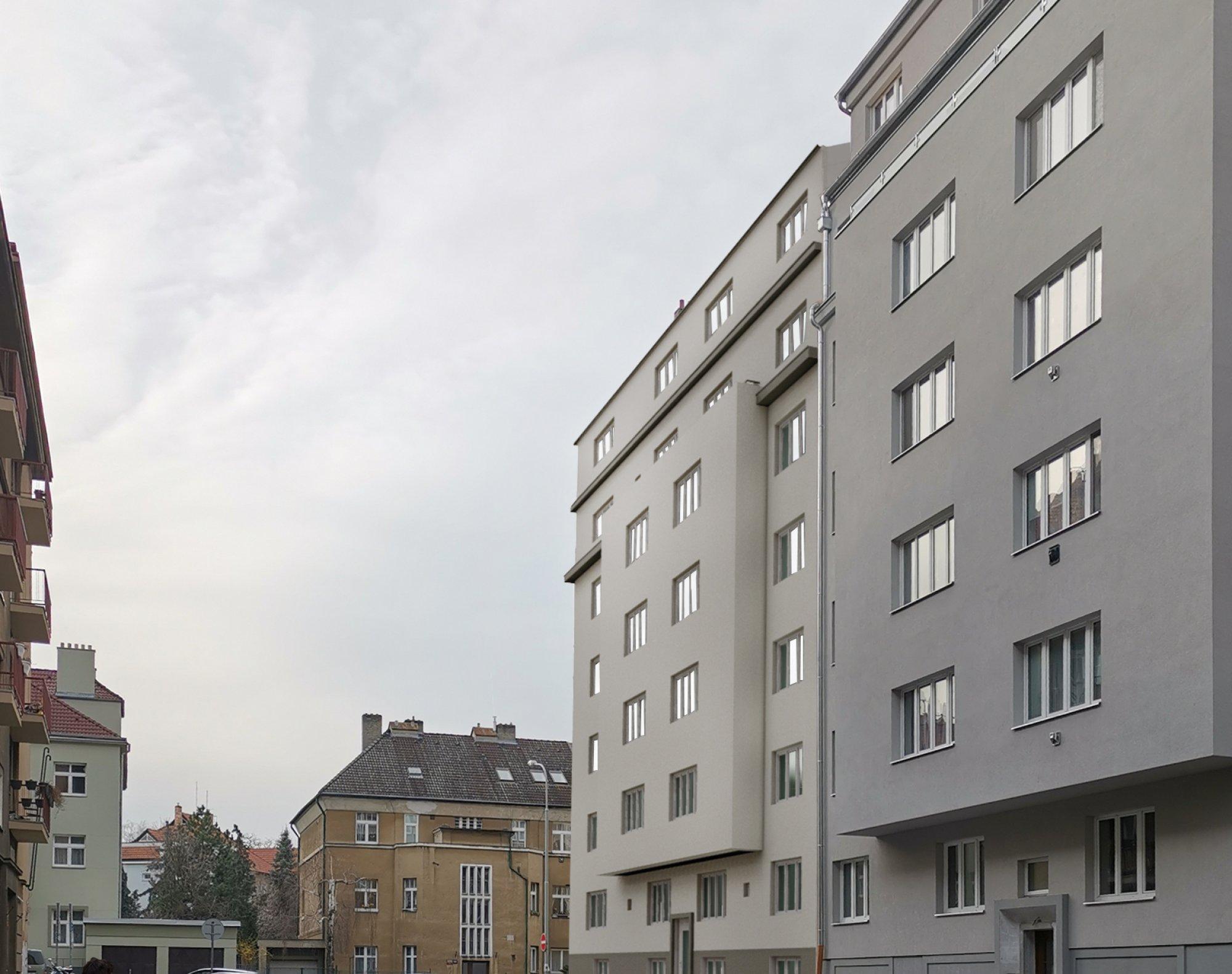 Vizualizace z ulice Vikleova - developerský projekt Viklefova, ulice Viklefova, Praha 8 - Žižkov | 3