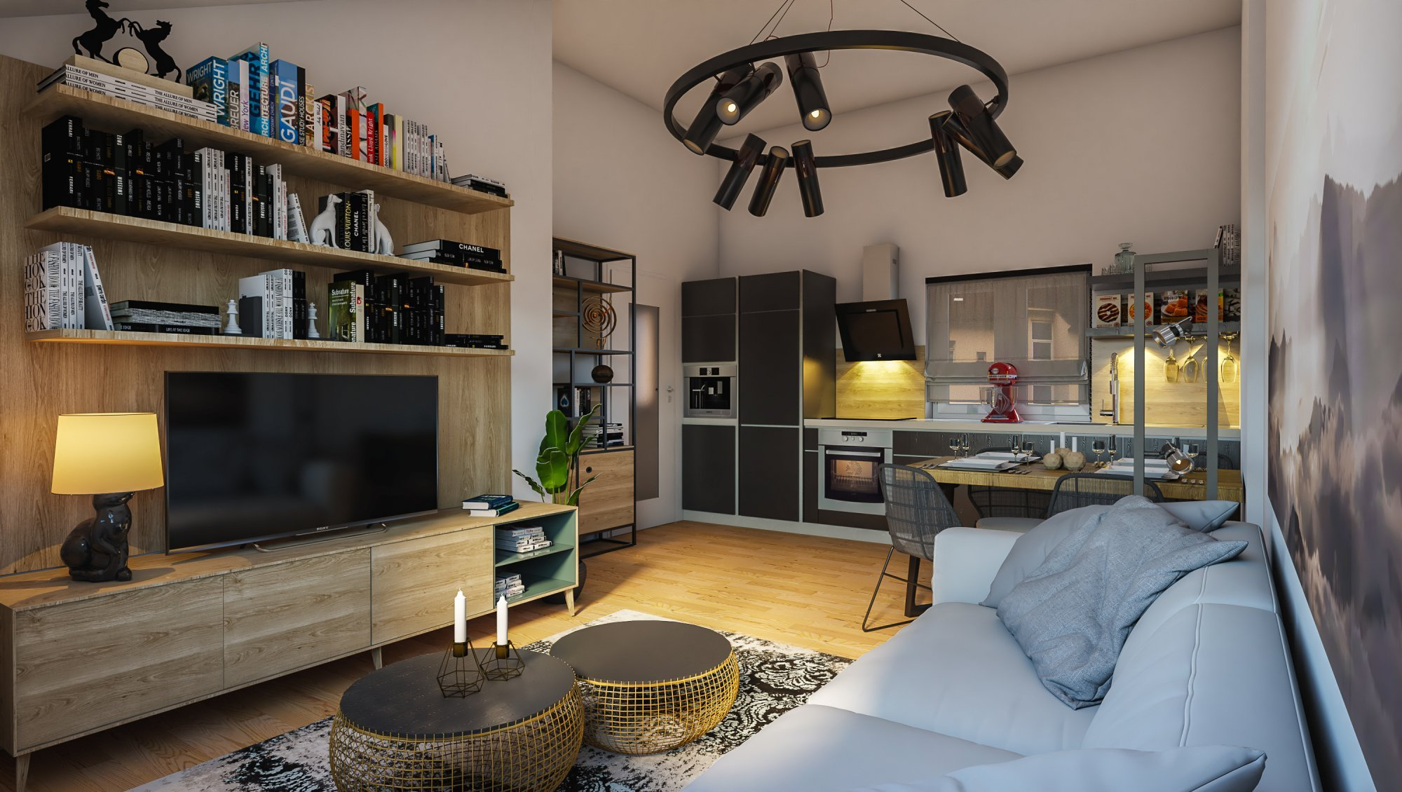 Půdní byt 2+kk, plocha 46 m², ulice Viklefova, Praha 8 - Žižkov | 1