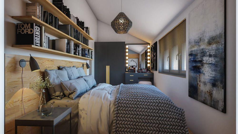 Půdní byt 2+kk, plocha 46 m², ulice Viklefova, Praha 8 - Žižkov | 3