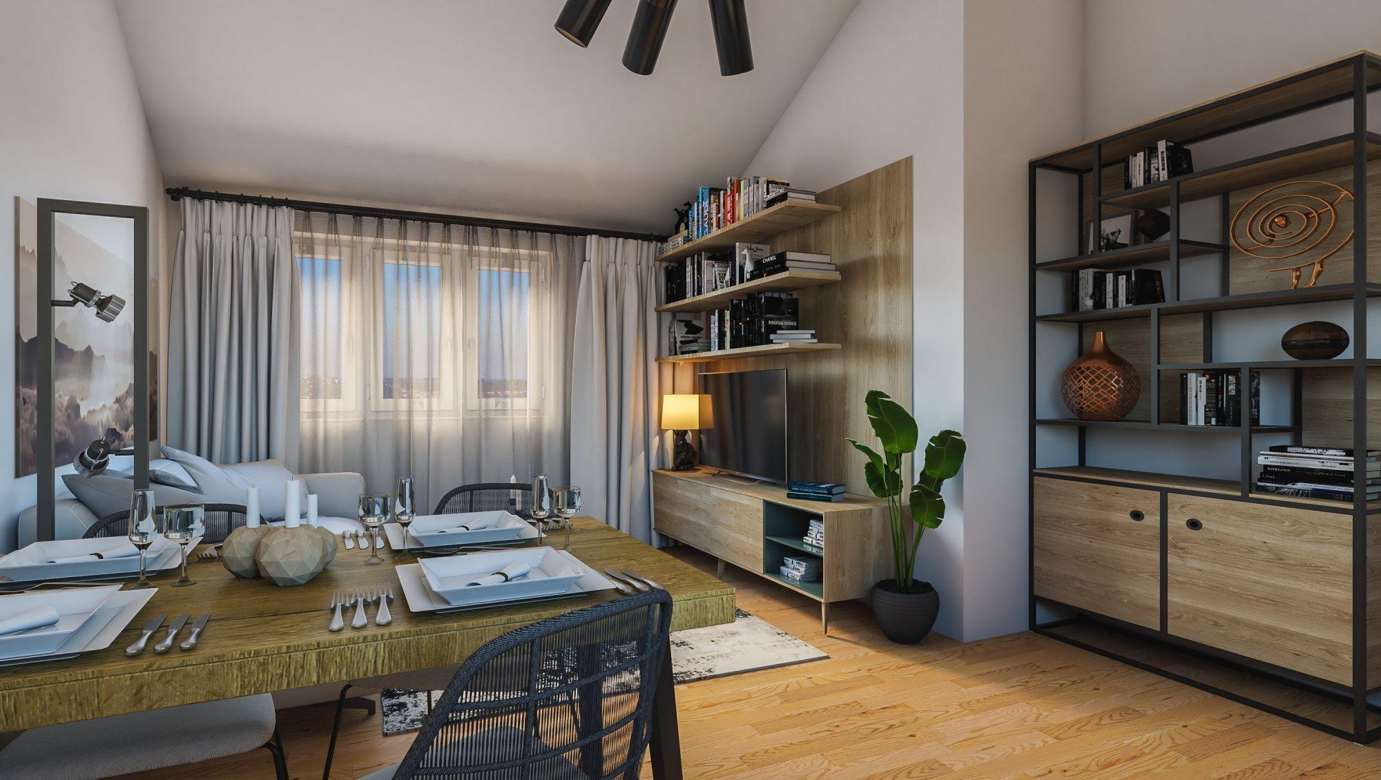 Půdní byt 3+kk, plocha 106 m², ulice Viklefova, Praha 8 - Žižkov | 2