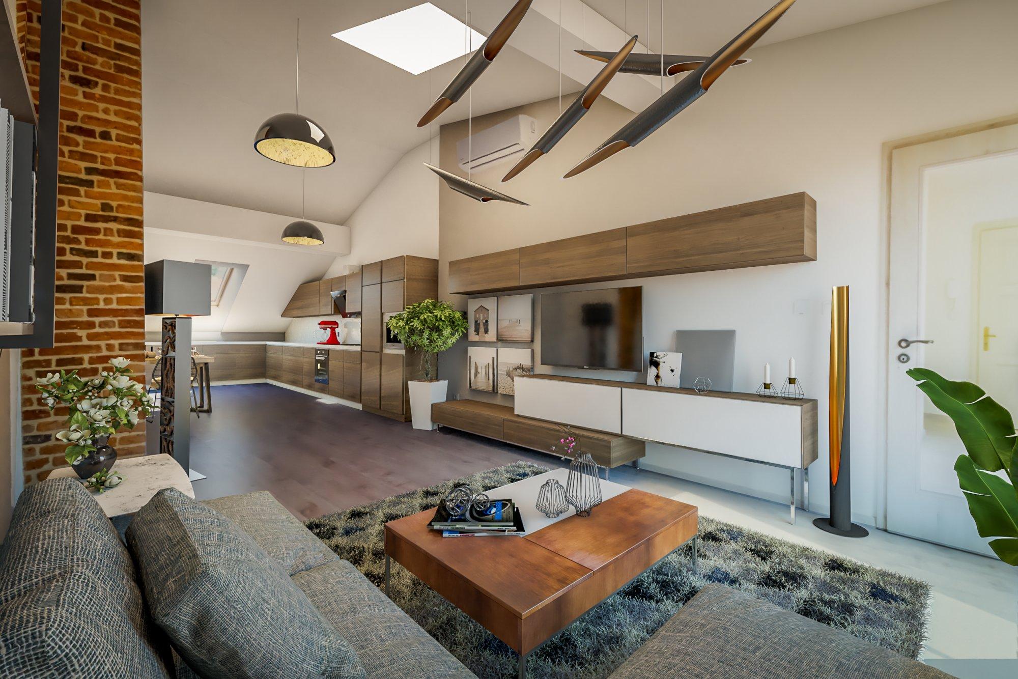 Půdní byt 3+kk, plocha 121 m², ulice Štefánikova, Praha 5 - Smíchov | 1