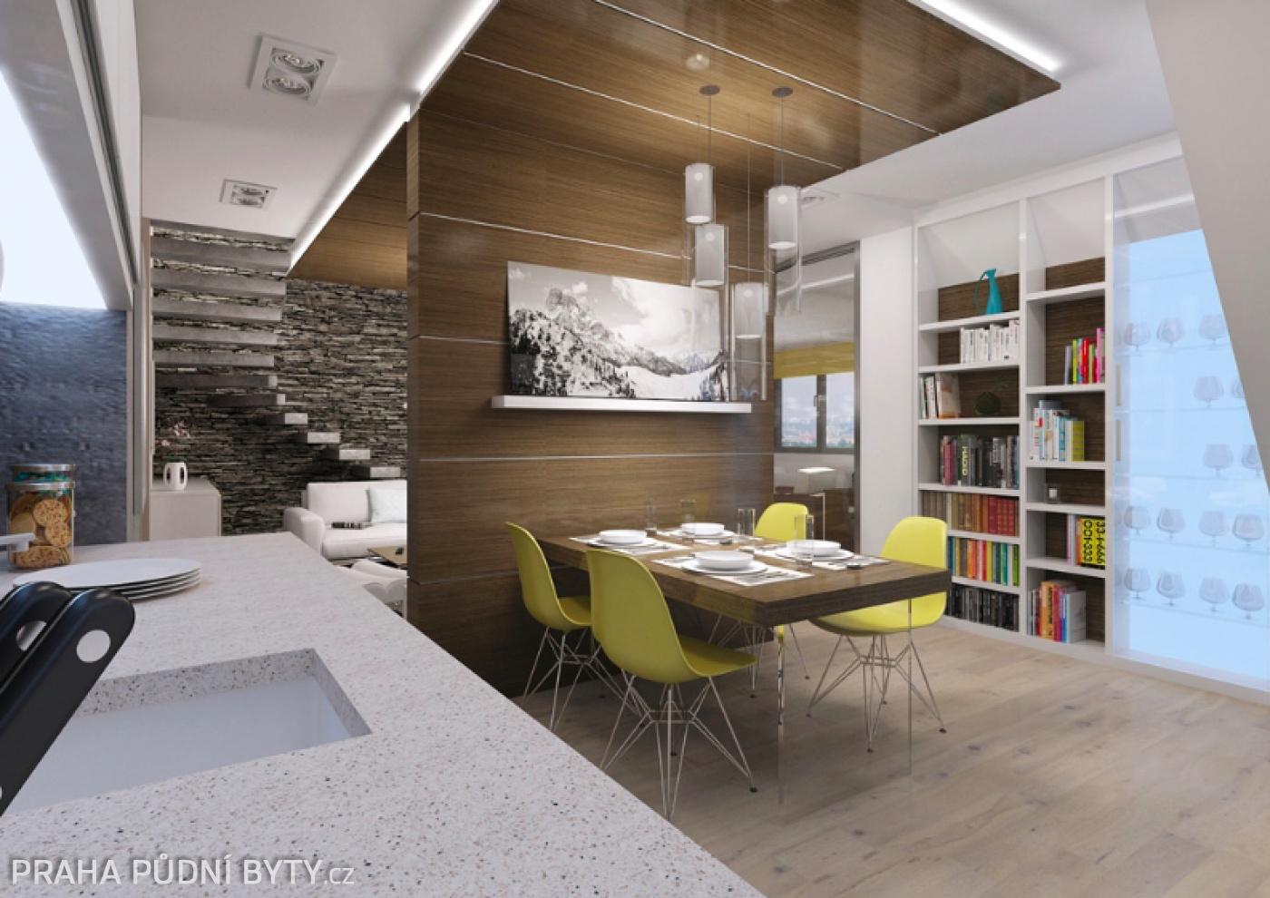 Půdní byt 4+kk, plocha 137 m², ulice Nad Závěrkou, Praha 6 - Břevnov | 1