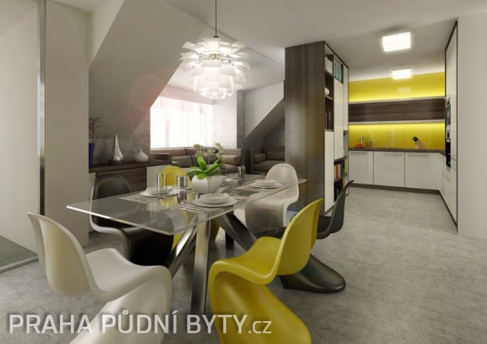 Půdní byt 5+kk, plocha 185 m², ulice Nad Závěrkou, Praha 6 - Břevnov | 2