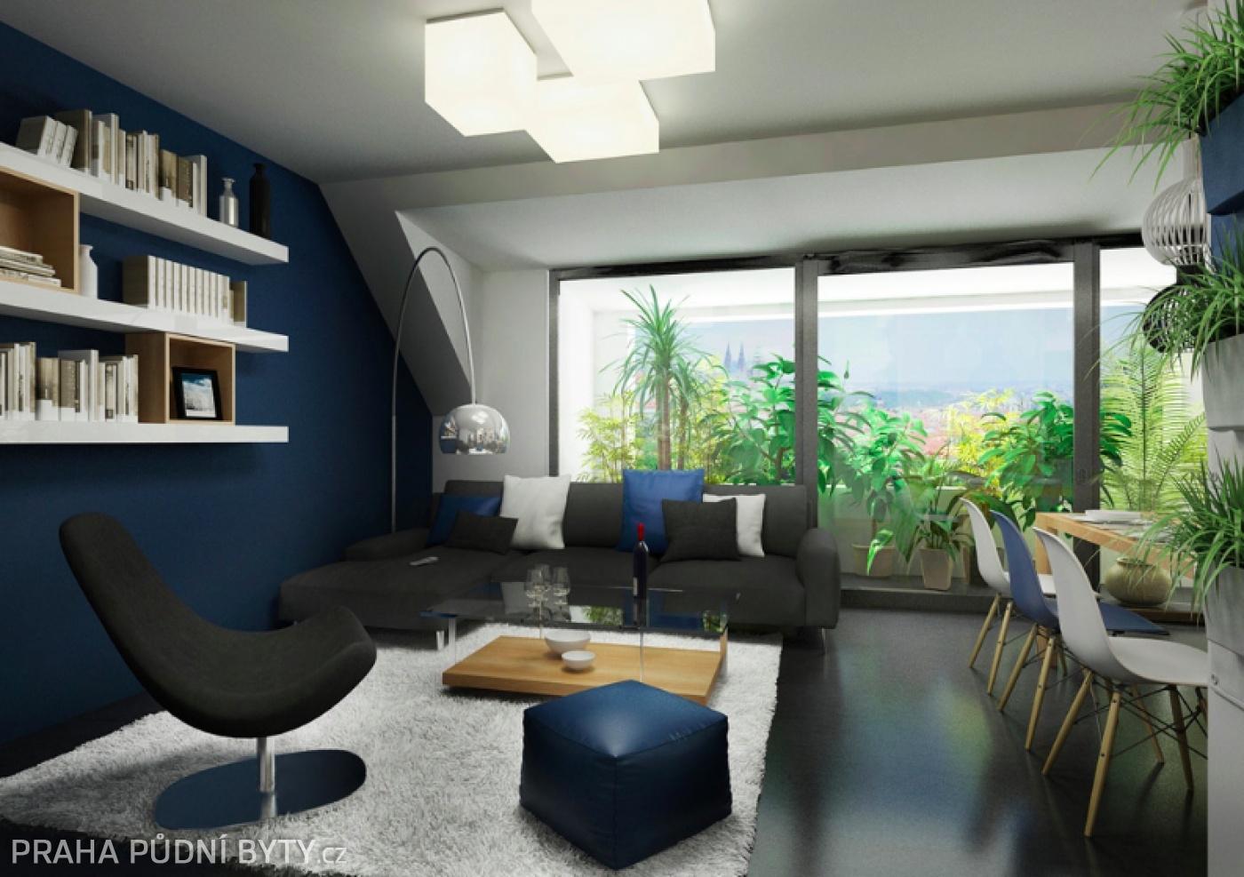 Půdní byt 3+kk, plocha 118 m², ulice Nad Závěrkou, Praha 6 - Břevnov   3