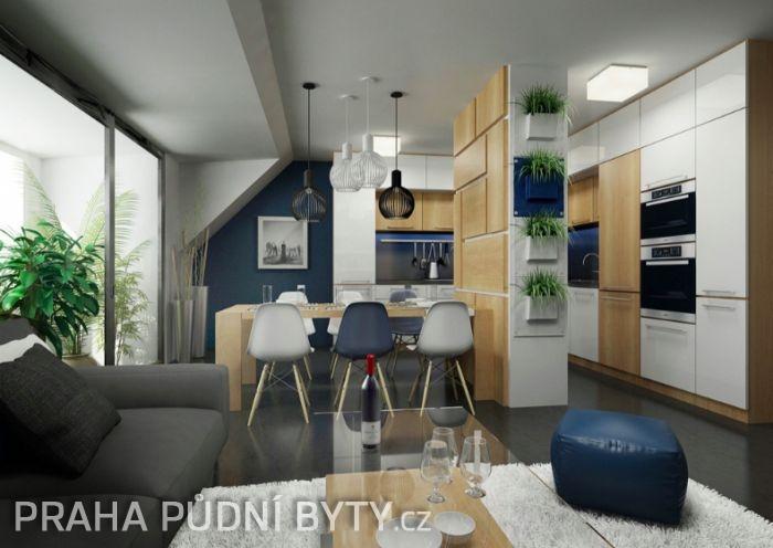 Půdní byt 3+kk, plocha 118 m², ulice Nad Závěrkou, Praha 6 - Břevnov | 1