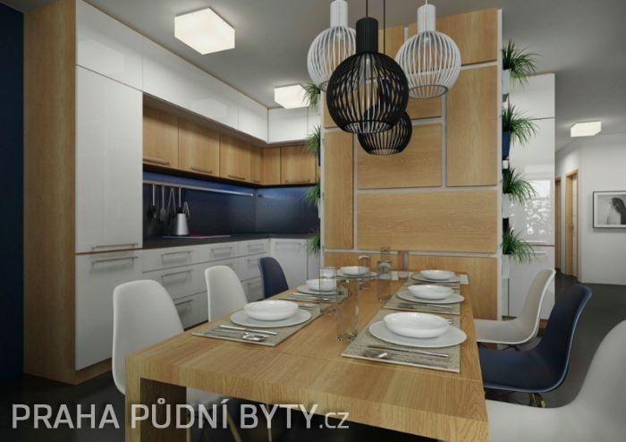 Půdní byt 3+kk, plocha 118 m², ulice Nad Závěrkou, Praha 6 - Břevnov | 2