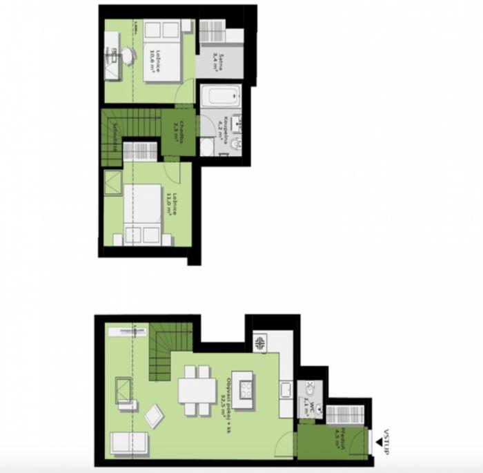Půdní byt 3+kk, plocha 73 m², ulice Žižkovo náměstí, Praha 3 - Žižkov, cena 6 472 000 Kč | 7