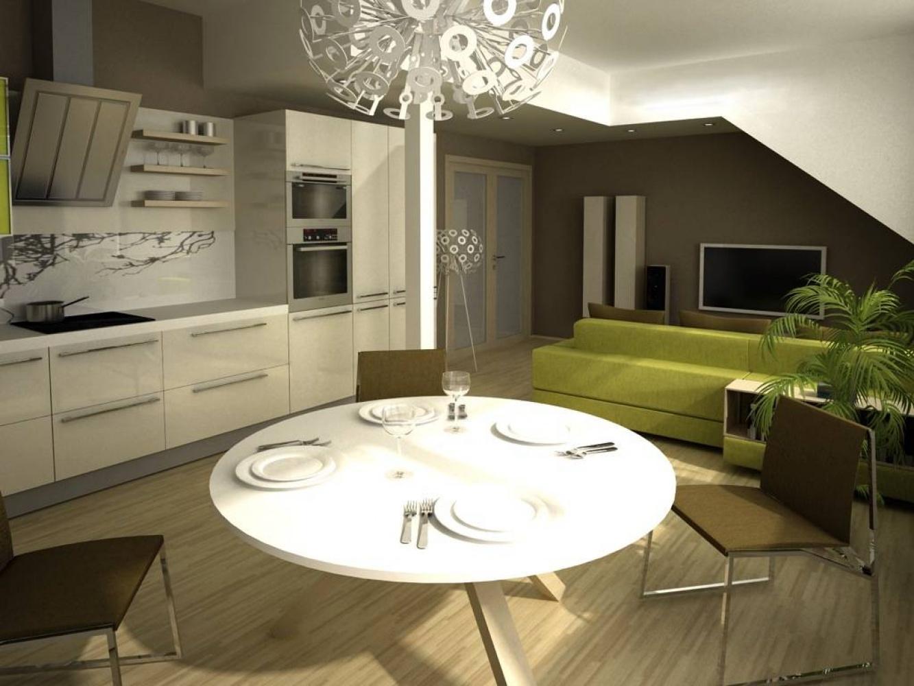 Půdní byt 3+kk, plocha 76 m², ulice U Vody, Praha 7 - Holešovice | 2