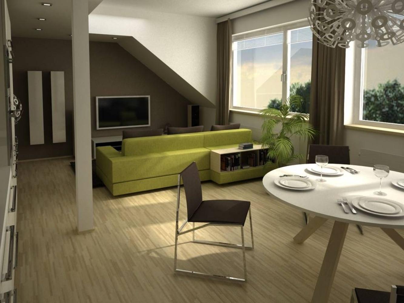 Půdní byt 2+kk, plocha 39 m², ulice U Vody, Praha 7 - Holešovice   2