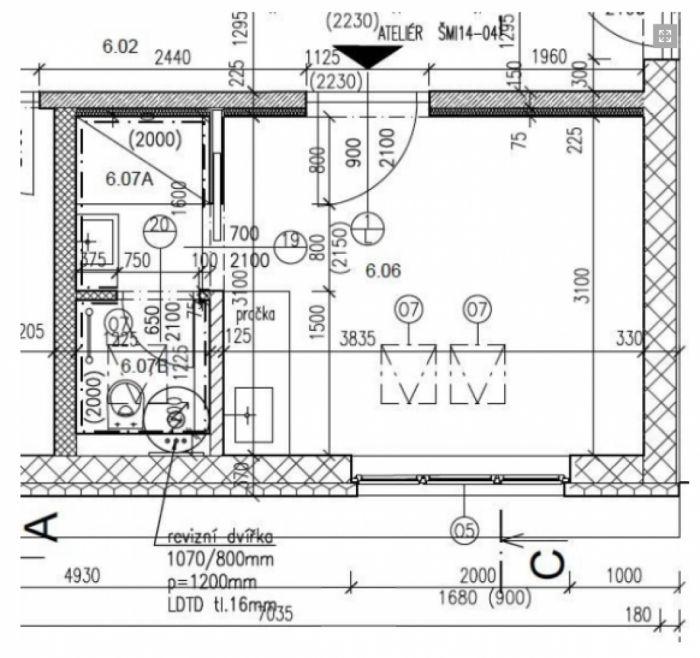 Půdní byt 1+kk, plocha 16 m², ulice Šmilovského, Praha 2 - Vinohrady, cena 1 500 000 Kč | 10