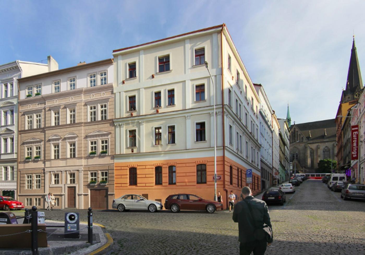 Developerský projekt Štítného, ulice Štítného, Praha 3 - Žižkov   1